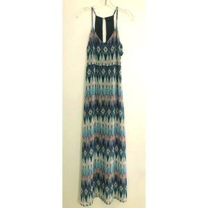 Forever 21 Colorful Aztec Watercolor Maxi Dress